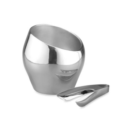 Nambe Tilt Ice/Champagne Bucket with Tongs