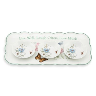 Lenox® Butterfly Meadow® Sentiment Hors d'oeuvre Tray