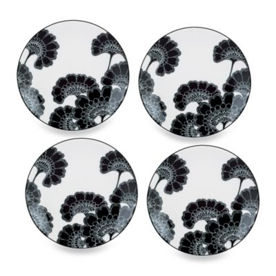 kate spade new york Japanese Floral 5 3/4-Inch Tidbit Plates (Set of 4)
