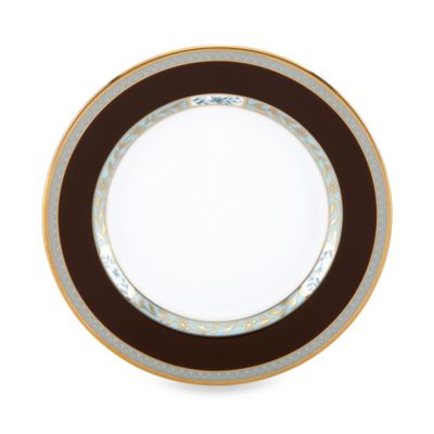 White Brown Butter Plate