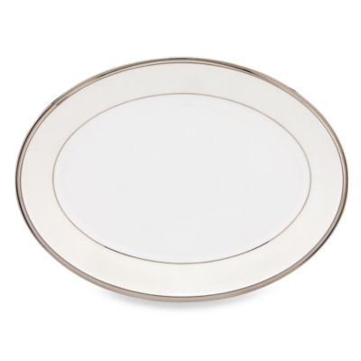 Lenox® Linen Mist 13-Inch Oval Platter