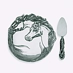 Arthur Court Designs Horse Plate with Cheese Server