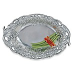 Arthur Court Designs Grape Oval Tray with Fretwork