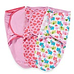 SwaddleMe® 3-Pack Small/Medium Adjustable Infant Wraps by Summer Infant in Elephants