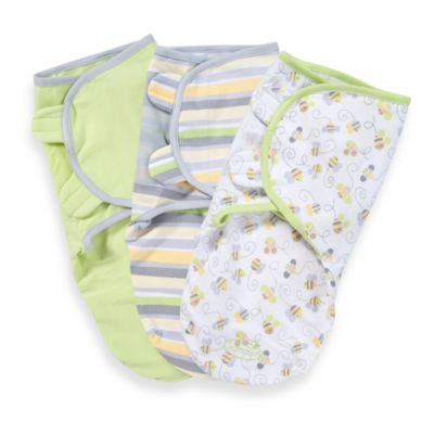 Swaddles > SwaddleMe® 3-Pack Small/Medium Adjustable Infant Wrap by Summer Infant in Bees