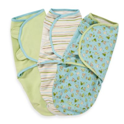 SwaddleMe® Small/Medium 3-Pack Adjustable Blankets in Dino Pals