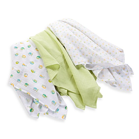 SwaddleMe® Blanket 3-Pack Pear Muslin in 100% Cotton