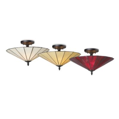 Elk Lighting Lumino 3-Light Semi-Flush Ceiling Lamp