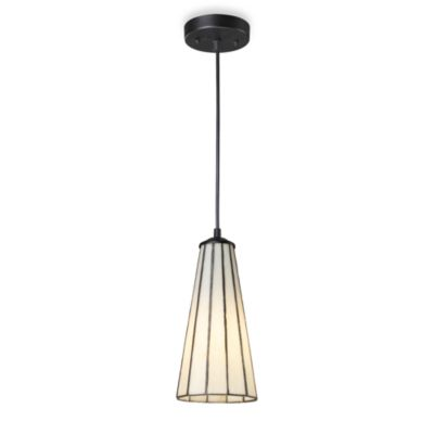 Elk Lighting Lumino 1-Light Pendant Ceiling Lamp in Matte Black/Comet White