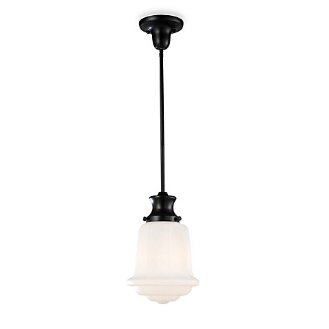 ELK Lighting Schoolhouse Pendant Light in Oiled Bronze