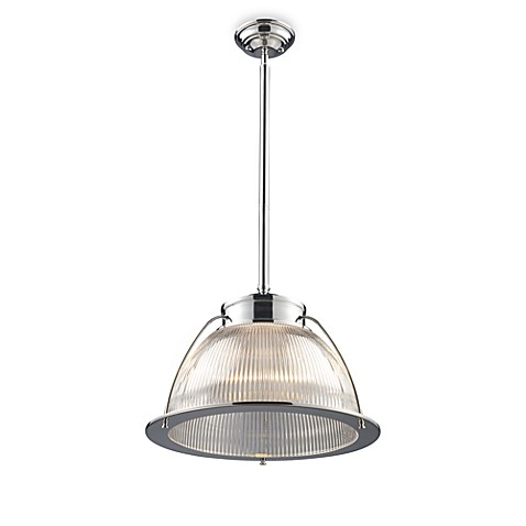 ELK Lighting Halophane 1-Light Pendant in Polished Chrome