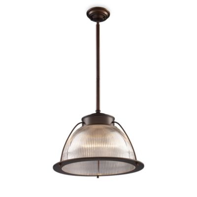 Halophane Glass Pendant Light Fixture