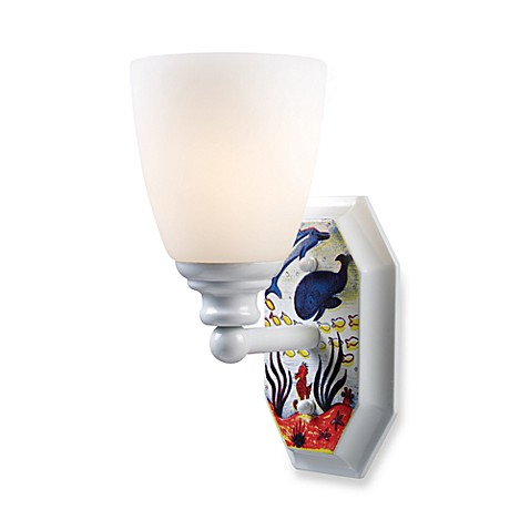 Landmark Lighting Kidshine Under the Sea 1-Light Wall Sconce in White