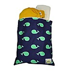 Itzy Ritzy Wet Happened?® Wet Storage Bag in Whale-Watching Blue