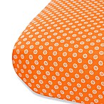 Oliver B Fitted Crib Sheet in White/Orange