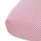 Oliver B Fitted Crib Sheet in White/Fuschia