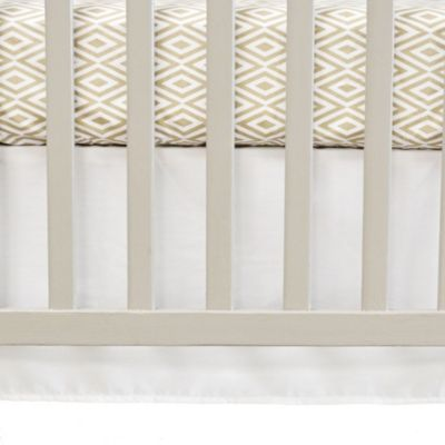 Oliver B Flat Panel Crib Skirt in Pure White