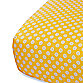Oliver B Fitted Crib Sheet in White/Yellow