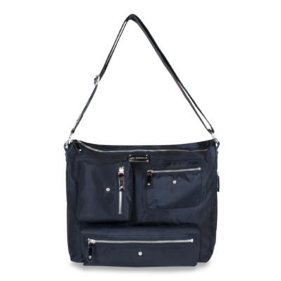 Amy Michelle ™ Iris™ Diaper Bag in Black Twill