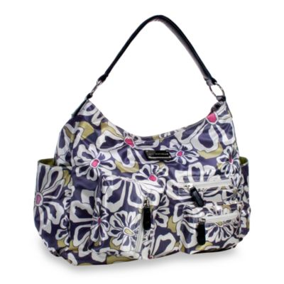 Amy Michelle™ Lotus™ Diaper Bag in Charcoal Floral