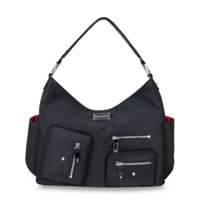Amy Michelle™ Lotus™ Diaper Bag in Black Twill