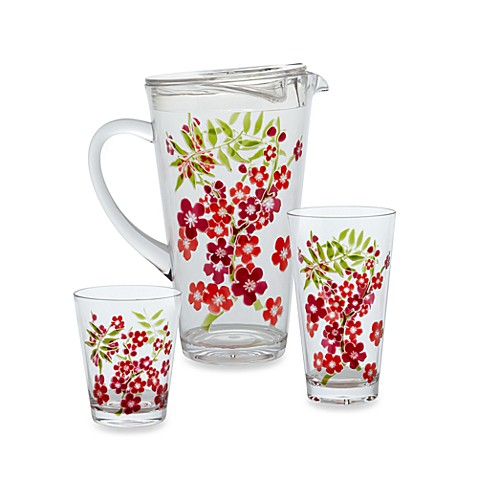 Cherry Blossom Etched Drinkware