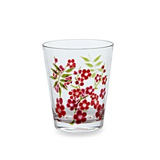 Cherry Blossom Etched 15-Ounce Double Old Fashioned