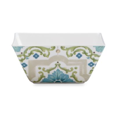 Tableaux Tile Melamine 6-Inch Square Bowl