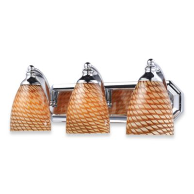 ELK Lighting 3-Light Vanity Polished Chrome/Coco Glass