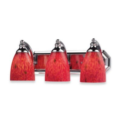 ELK Lighting 3-Light Vanity Polished Chrome/Mountain Glass