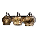 ELK Lighting 3-Light Vanity Polished Chrome/Gold Mosaic Glass