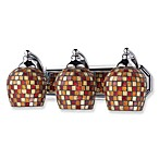 ELK Lighting 3-Light Vanity Polished Chrome/Multi Mosaic Glass