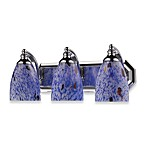 ELK Lighting 3-Light Vanity Polished Chrome/Starburst Blue Glass