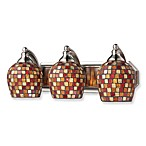 ELK Lighting Mosaic Glass Vanity Light Fixture with Satin Nickel Finishes