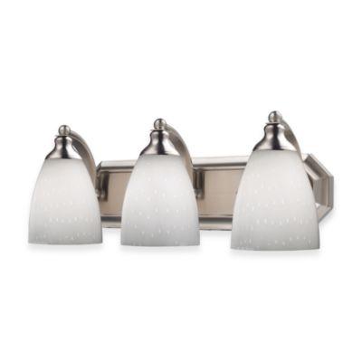 ELK Lighting Classic Vanity Lighting in Nickel with Glass Shades