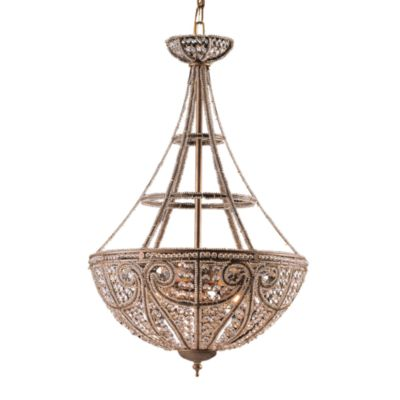 ELK Lighting 4-Light Pendant in Dark Bronze