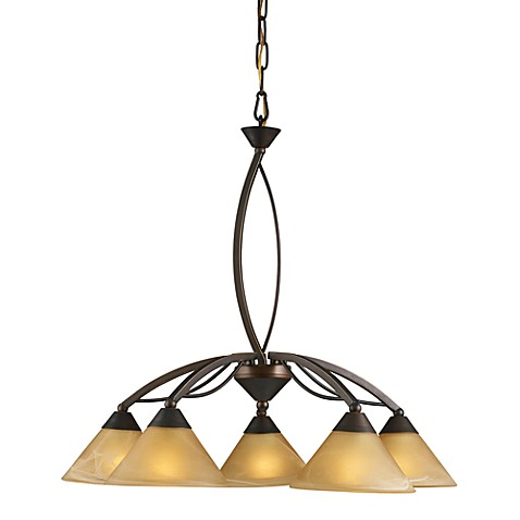 ELK Lighting 5-Light Down Chandelier in Aged Bronze