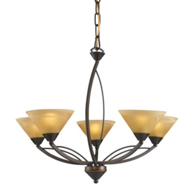 ELK Lighting 5-Light Up Chandelier in Aged Bronze
