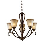 ELK Lighting 5-Light Up Chandelier in Mocha