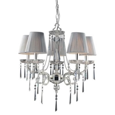 Polished Silver Chandeliers