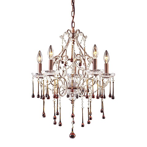 ELK Lighting Opulence 5-Light Chandelier in Rust