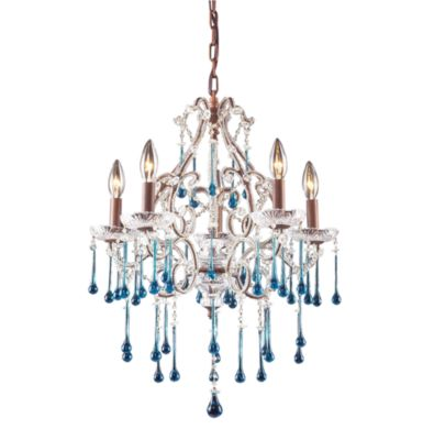 Aqua Crystal Chandelier
