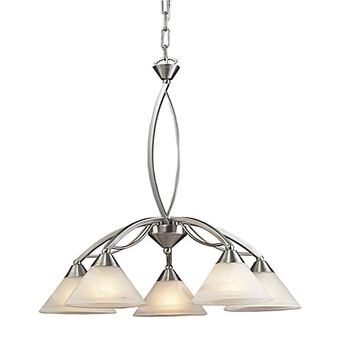 ELK Lighting 5-Light Down Chandelier in Satin Nickel