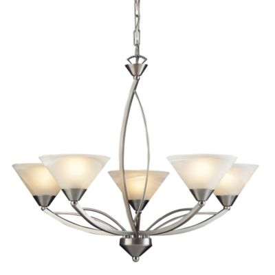 ELK Lighting 5-Light Up Chandelier in Satin Nickel