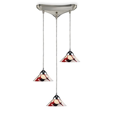 ELK Lighting Pendant Trio with Creme Glass and Polished Chrome