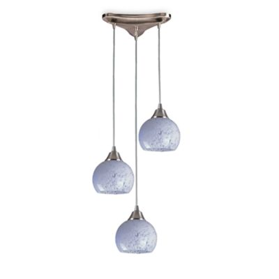 ELK Lighting Contemporary Vertical Round Pendant Lighting in Satin Nickel