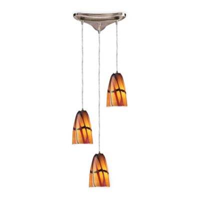 Stylish 3-Light Vertical Pendant From ELK Lighting