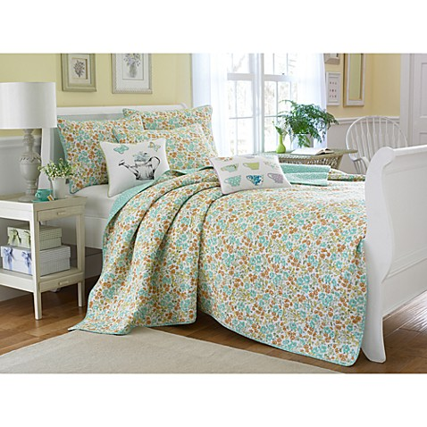 Laura Ashley Garden Party Jaynie Quilt 100 Cotton Bed Bath Beyond