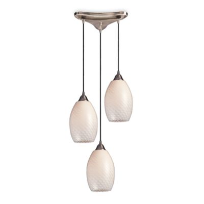 Hand Blown Glass Lighting With Satin Nickel Finish by Elk Lighting