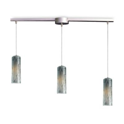 ELK Lighting Maple 3-Light Pendant Ceiling Lamp in Satin Nickel/Maple Dusk Glass